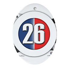 26 Cars Logo Ornament (Oval)