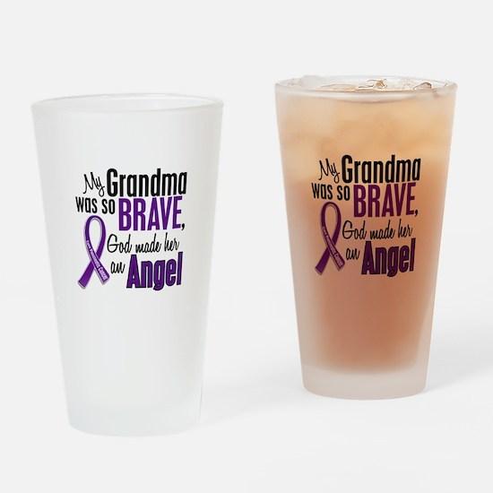 Angel 1 Pancreatic Cancer Drinking Glass