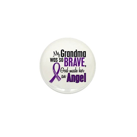 Angel 1 Pancreatic Cancer Mini Button (100 pack)
