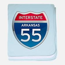 Interstate 55 baby blanket