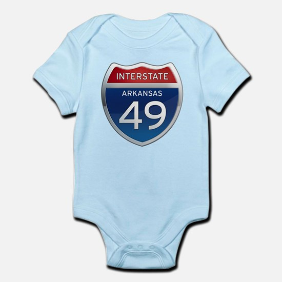 Interstate 49 Infant Bodysuit