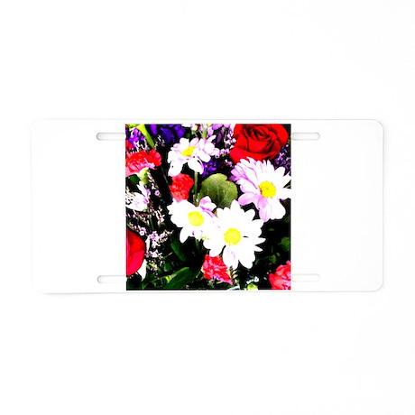 Flowers - Watercolor Aluminum License Plate