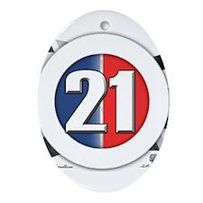 21 Cars Logo Ornament (Oval)