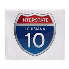 Interstate 10 Throw Blanket