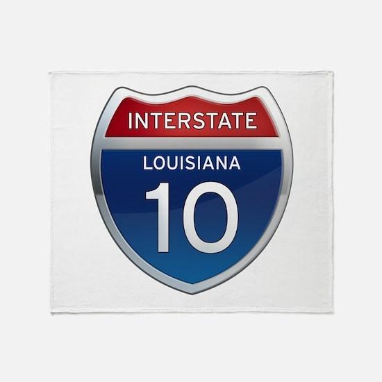 Interstate 10 Throw Blanket