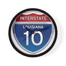 Interstate 10 Wall Clock