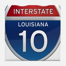 Interstate 10 Tile Coaster