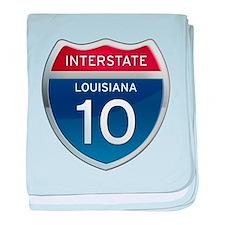 Interstate 10 baby blanket
