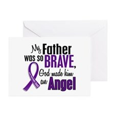Angel 1 Pancreatic Cancer Greeting Cards (Pk of 10