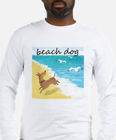 Beach Dog Long Sleeve T-Shirt