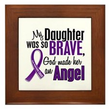 Angel 1 Pancreatic Cancer Framed Tile