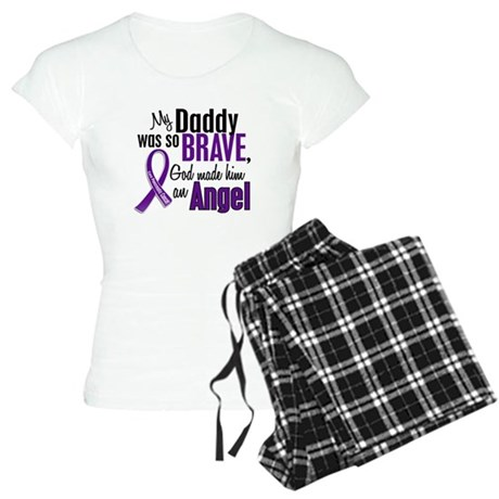 Angel 1 Pancreatic Cancer Women's Light Pajamas