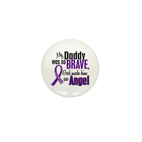 Angel 1 Pancreatic Cancer Mini Button (10 pack)