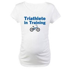 Triathlete in Training - Blue Bike Shirt