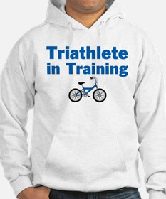 Triathlete in Training - Blue Bike Hoodie
