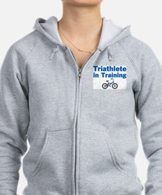 Triathlete in Training - Blue Bike Zip Hoodie