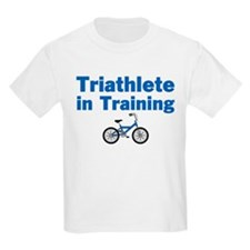 Triathlete in Training - Blue Bike T-Shirt