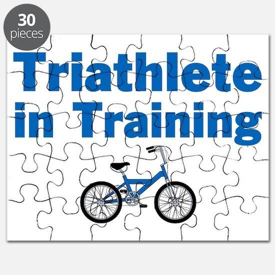 Triathlete in Training - Blue Bike Puzzle