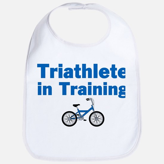 Triathlete in Training - Blue Bike Bib