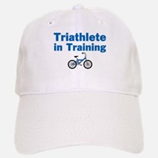 Triathlete in Training - Blue Bike Baseball Baseball Cap