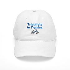 Triathlete in Training - Blue Bike Baseball Cap