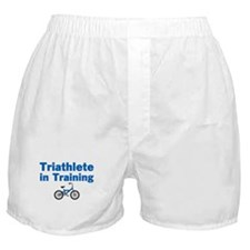 Triathlete in Training - Blue Bike Boxer Shorts