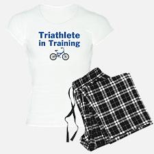 Triathlete in Training - Blue Bike Pajamas