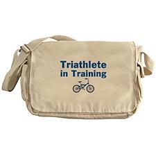 Triathlete in Training - Blue Bike Messenger Bag