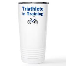 Triathlete in Training - Blue Bike Travel Mug