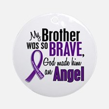 Angel 1 Pancreatic Cancer Ornament (Round)