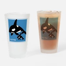 Killer Whale Drinking Glass