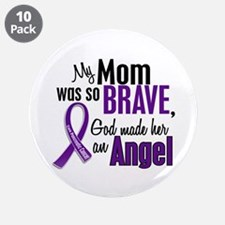 """Angel 1 Pancreatic Cancer 3.5"""" Button (10 pack)"""