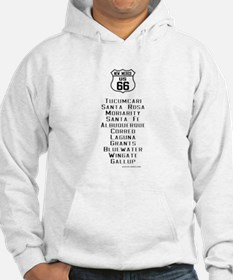 US Route 66 New Mexico Cities Hoodie Sweatshirt
