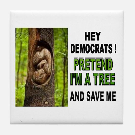 SAVE A BABY Tile Coaster