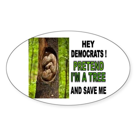 SAVE A BABY Sticker (Oval)
