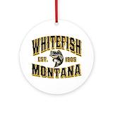 Whitefish montana Ornaments