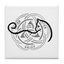 Cute Celtic knots Tile Coaster