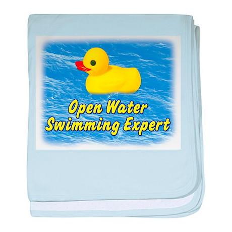 Open Water Swimming Expert Duck baby blanket