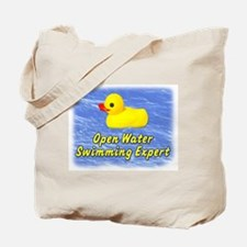 Open Water Swimming Expert Duck Tote Bag