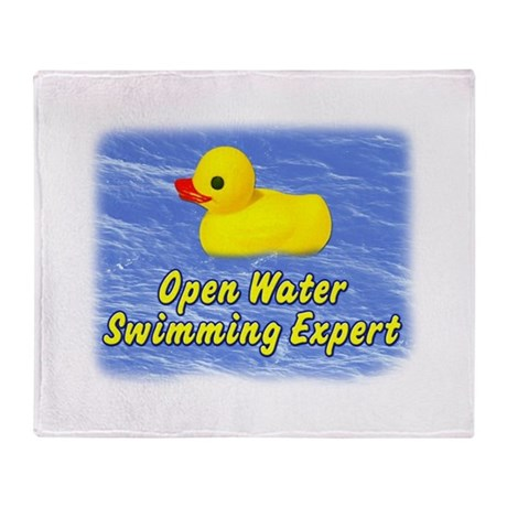 Open Water Swimming Expert Duck Throw Blanket