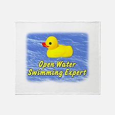 Open Water Swimming Expert Duck Throw Blanket