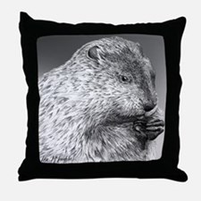 Punxutawney Phil Throw Pillow
