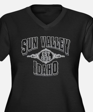 Sun Valley Black & Silver Women's Plus Size V-Neck