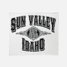 Sun Valley Black & Silver Throw Blanket