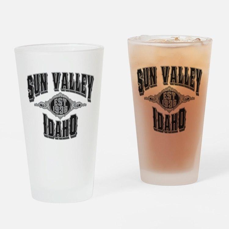 Sun Valley Black & Silver Drinking Glass