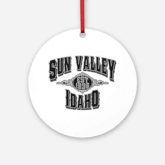 Sun Valley Black & Silver Ornament (Round)