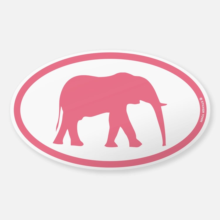 Alabama Red Elephant II Decal