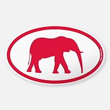 Alabama Red Elephant II Sticker (Oval)