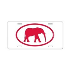 Alabama Red Elephant II Aluminum License Plate