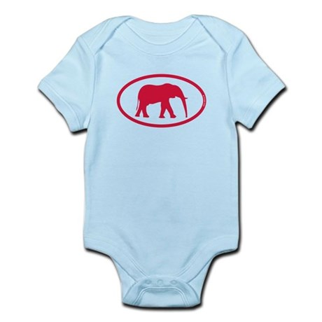Alabama Red Elephant II Infant Bodysuit